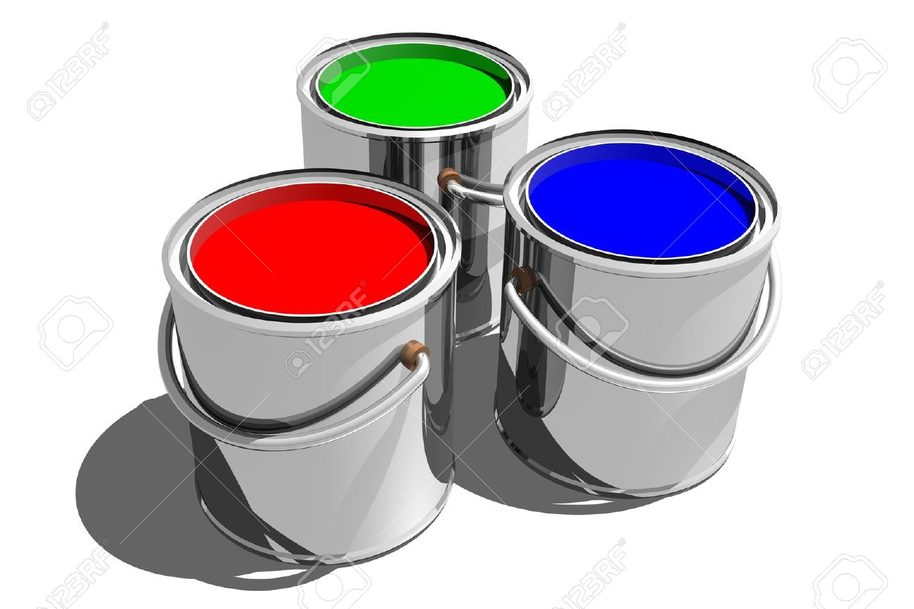 photo of paint cans 3d stock photo picture and royalty free image