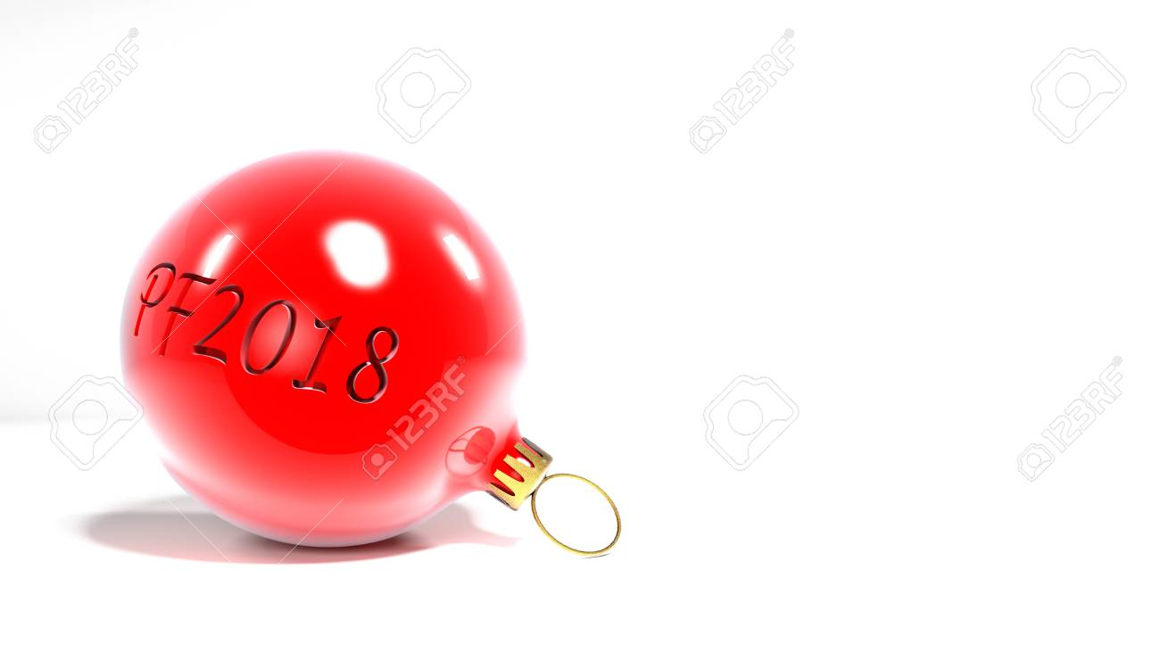 Merry Christmas And Pf2018 Together In Sphere Red Xmas Sphere