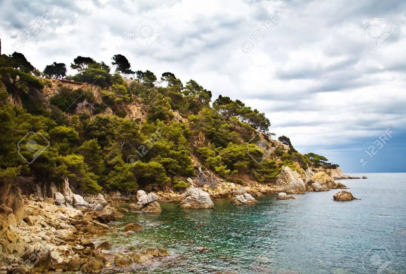 Costa Brava Landscape Near Lloret De Mar Catalonia Spain Stock Photo Picture And Royalty Free Image Image 10761577