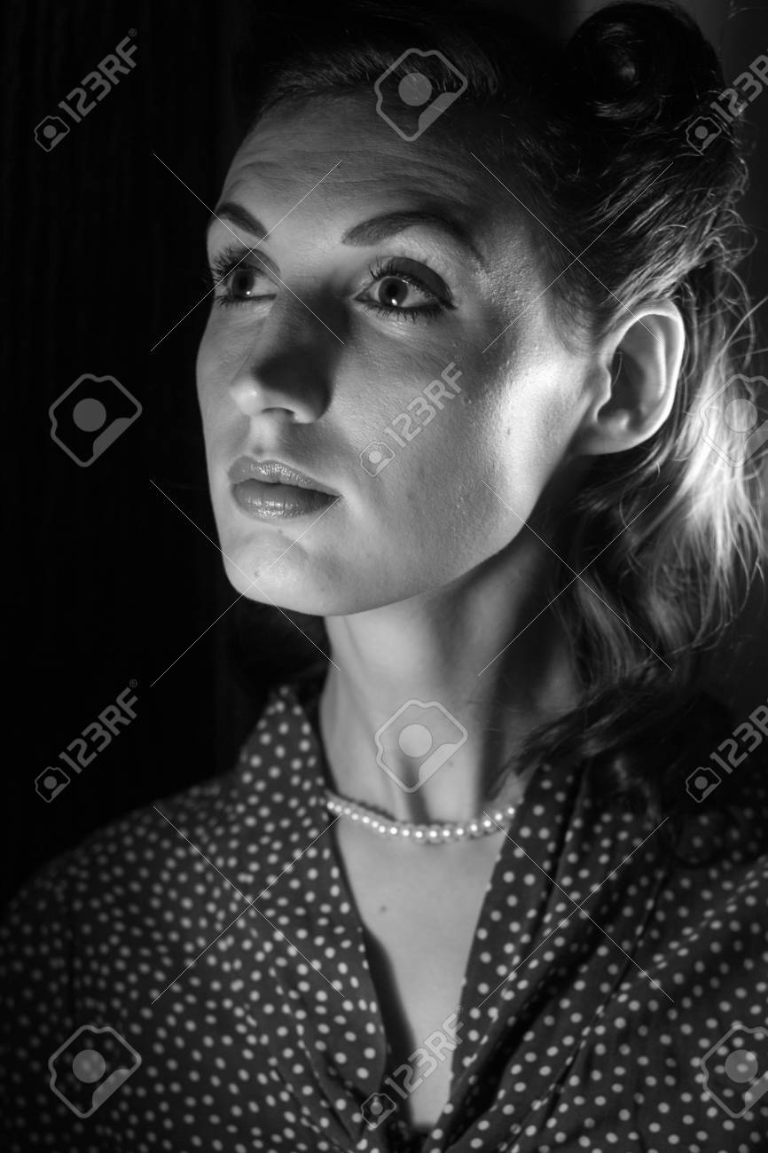 Portrait Of A Beautiful Girl In The Image Celebrity Movie Star Old Hollywood Past Makeup Beauty