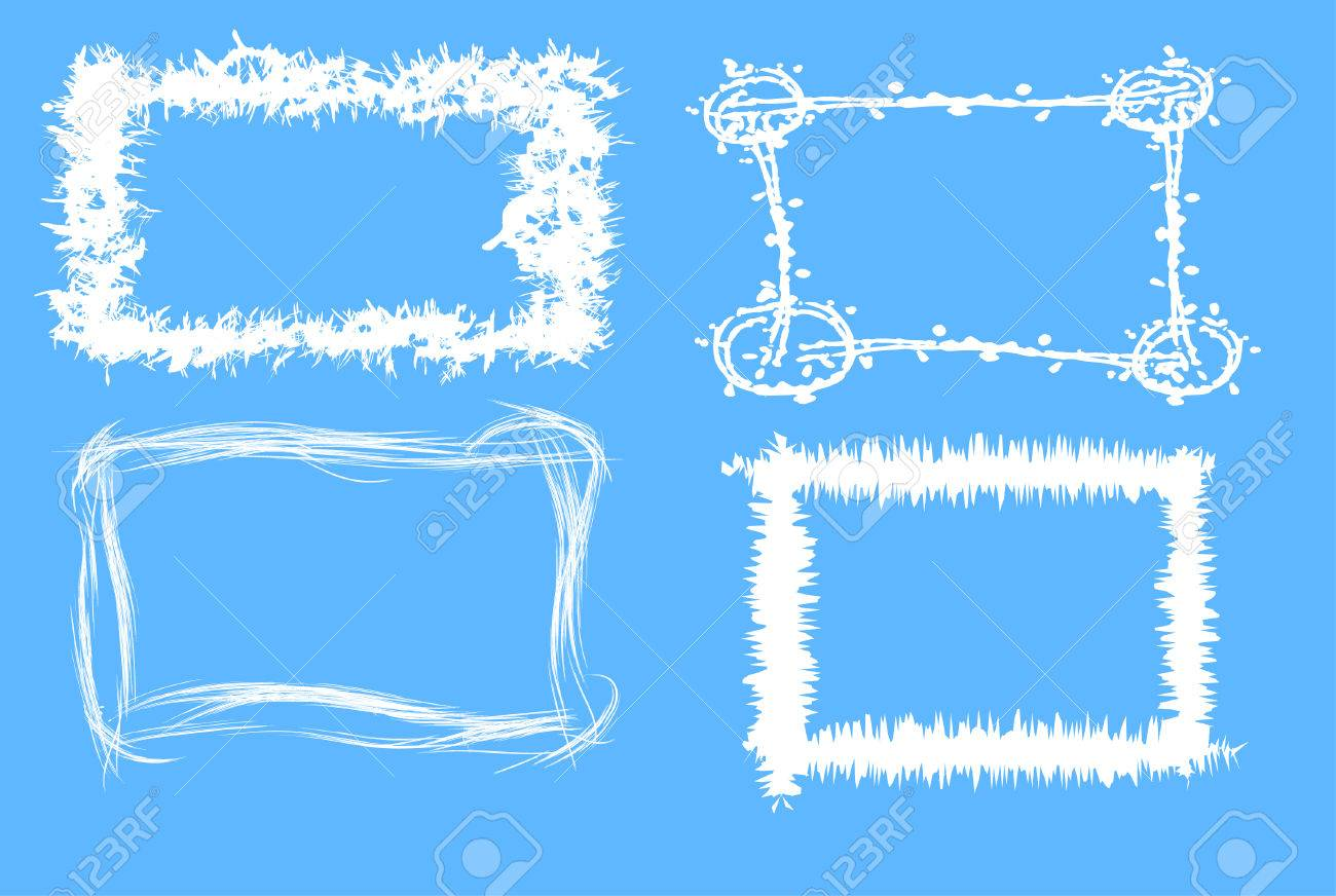 vector winter grunge frames vector illustration