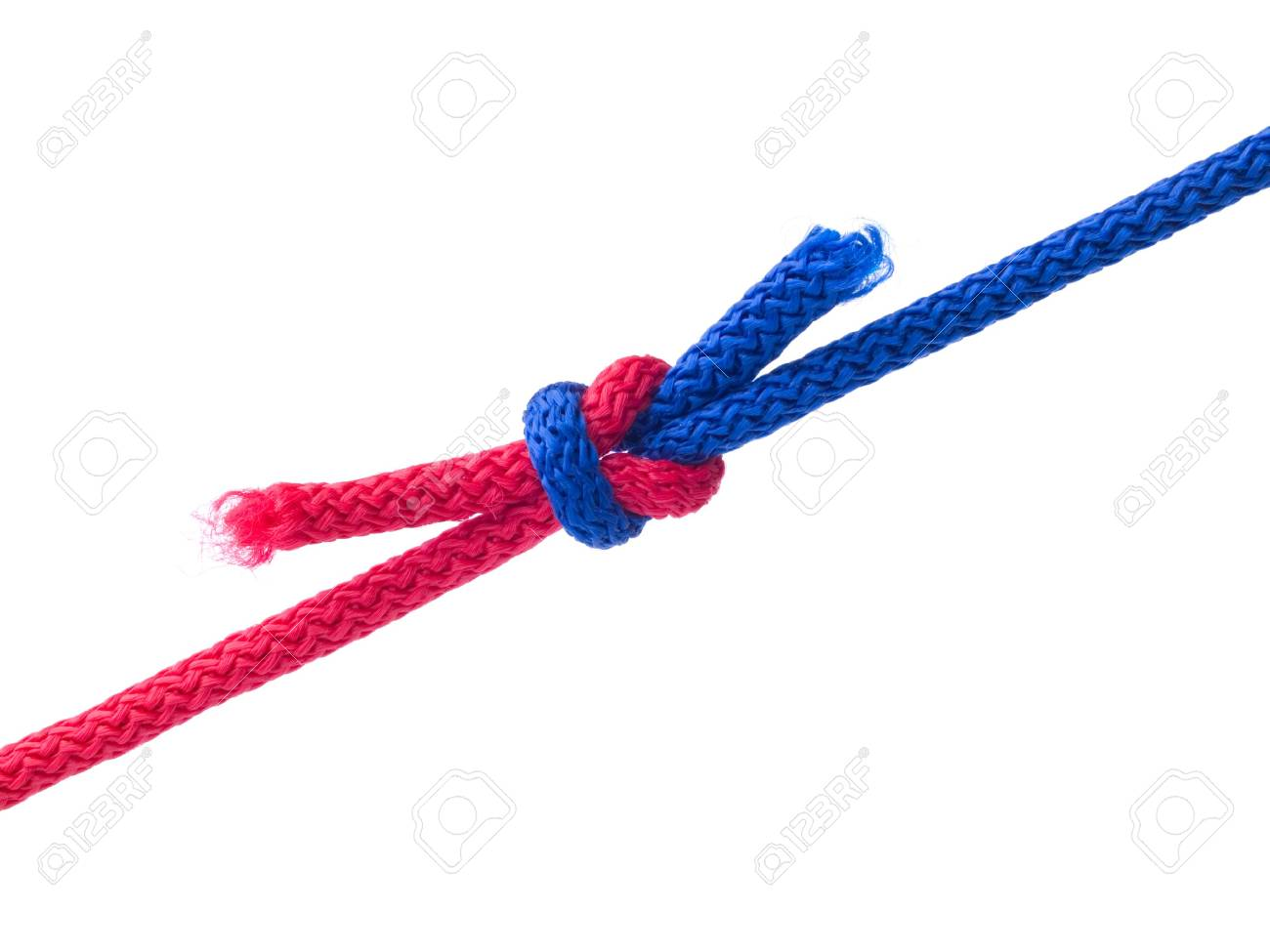 Knot from  cords isolated on  white Stock Photo - 2148034