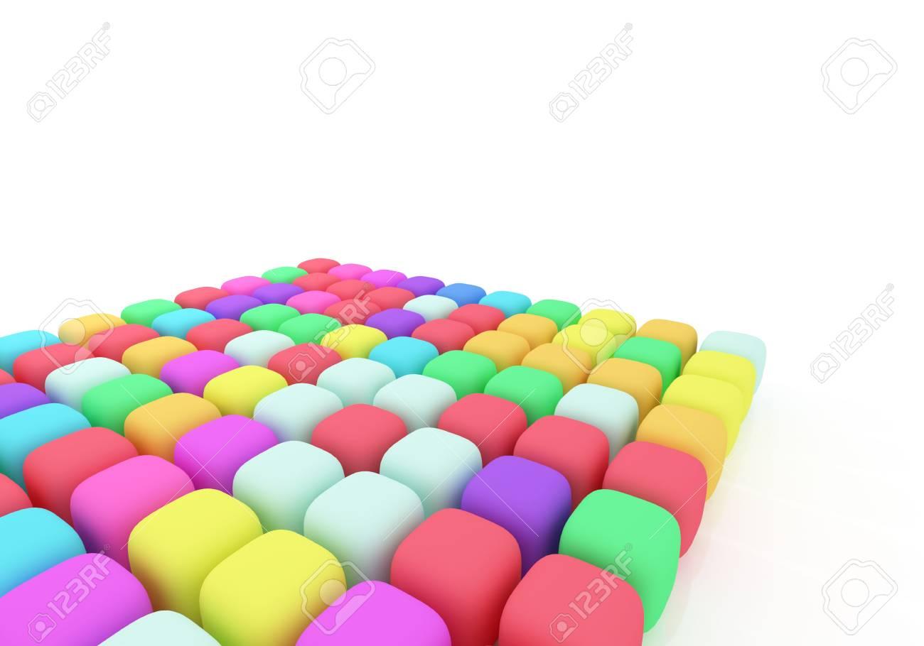 Plastic Color pallete on white background Stock Photo - 4633790