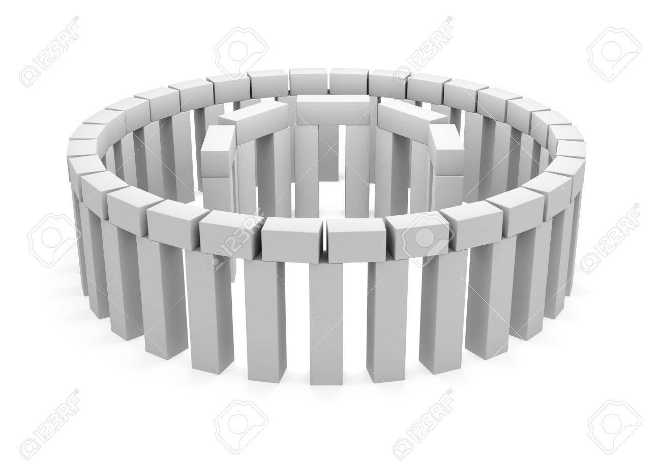 3D model of stonehenge. isolated on white Stock Photo - 4737292