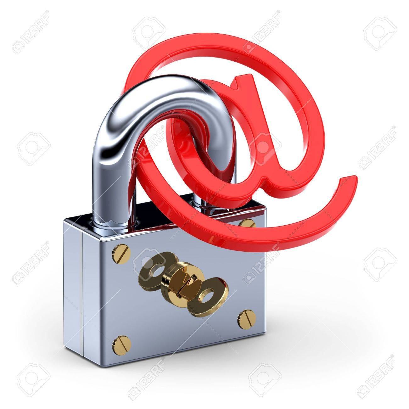E-mail and padlock Stock Photo - 7945661