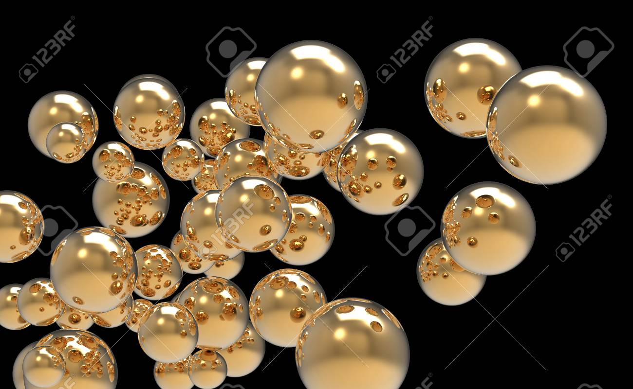 abstract 3d image of metallic painted balls Stock Photo - 8638985