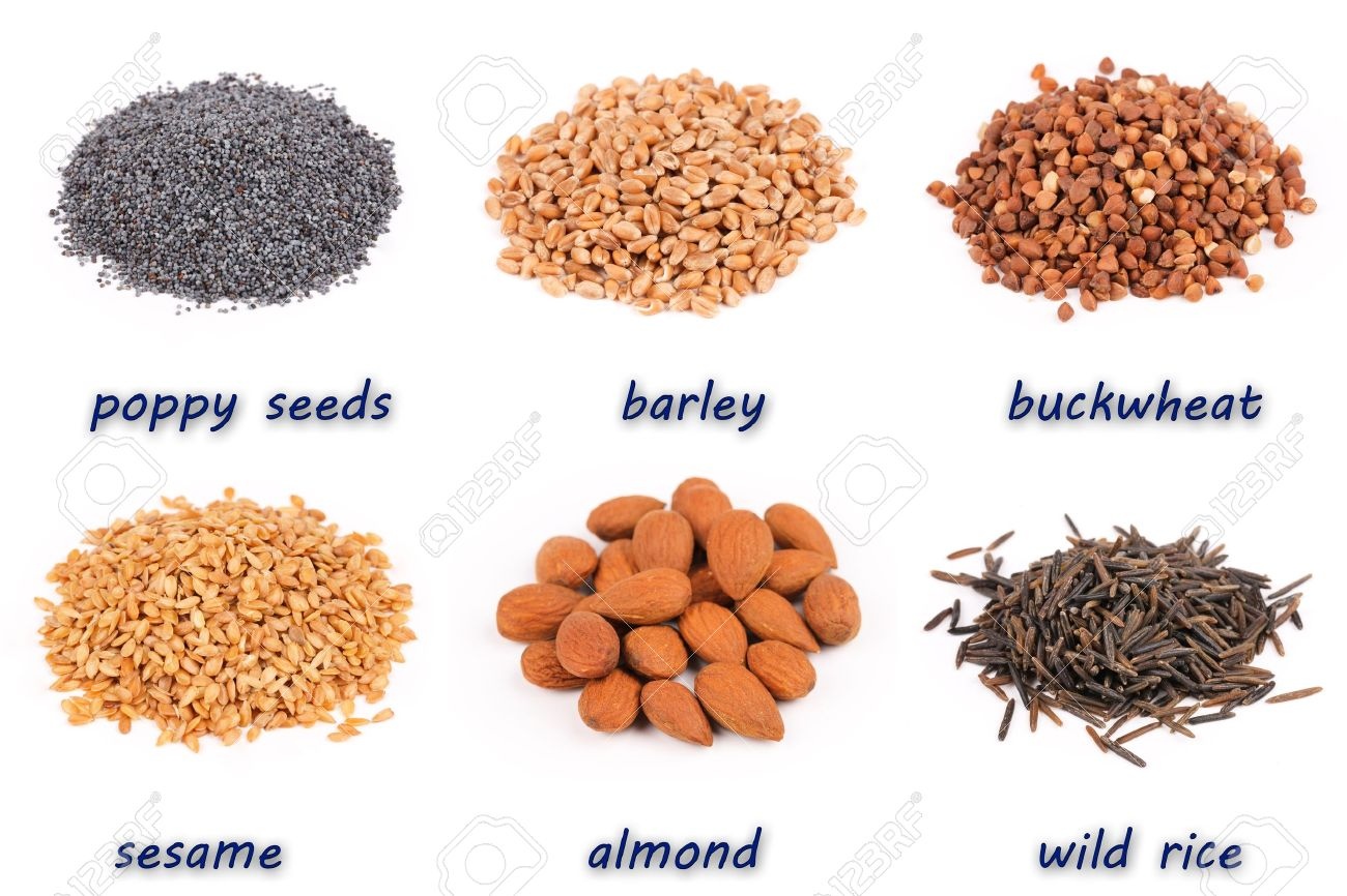 Examples Of Foods Rich In Protein And Starch Stock Photo Picture
