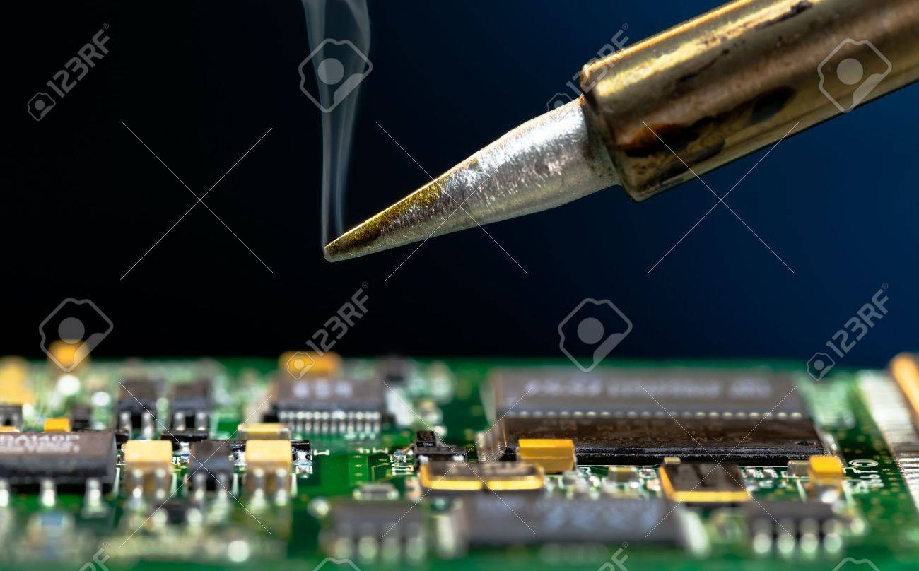Solder And Electronic Circuit Board Stock Photo Picture Royalty How To A 17150177