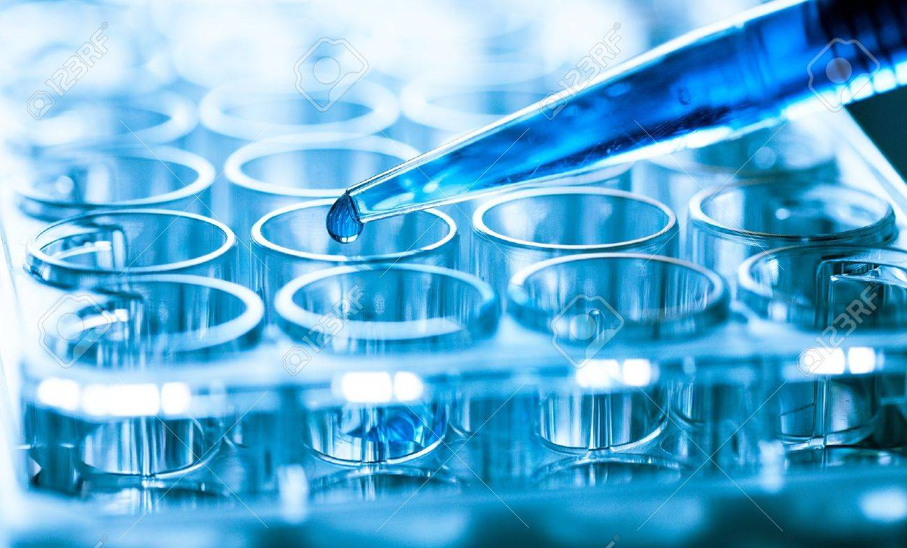 microbiological pipette in the genetic laboratory - 21645460