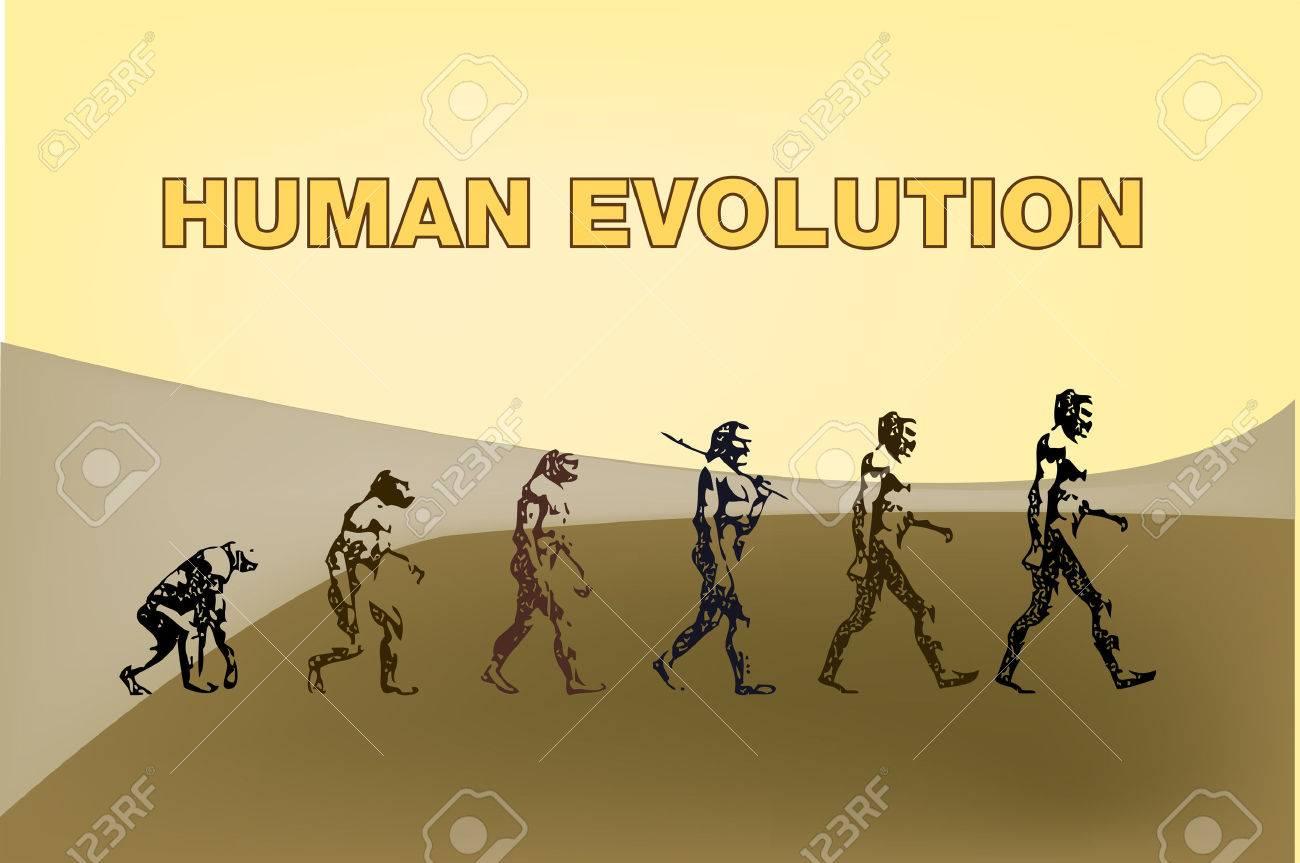 Human evolution representation in this graphic illustration. Stock Vector - 4986448