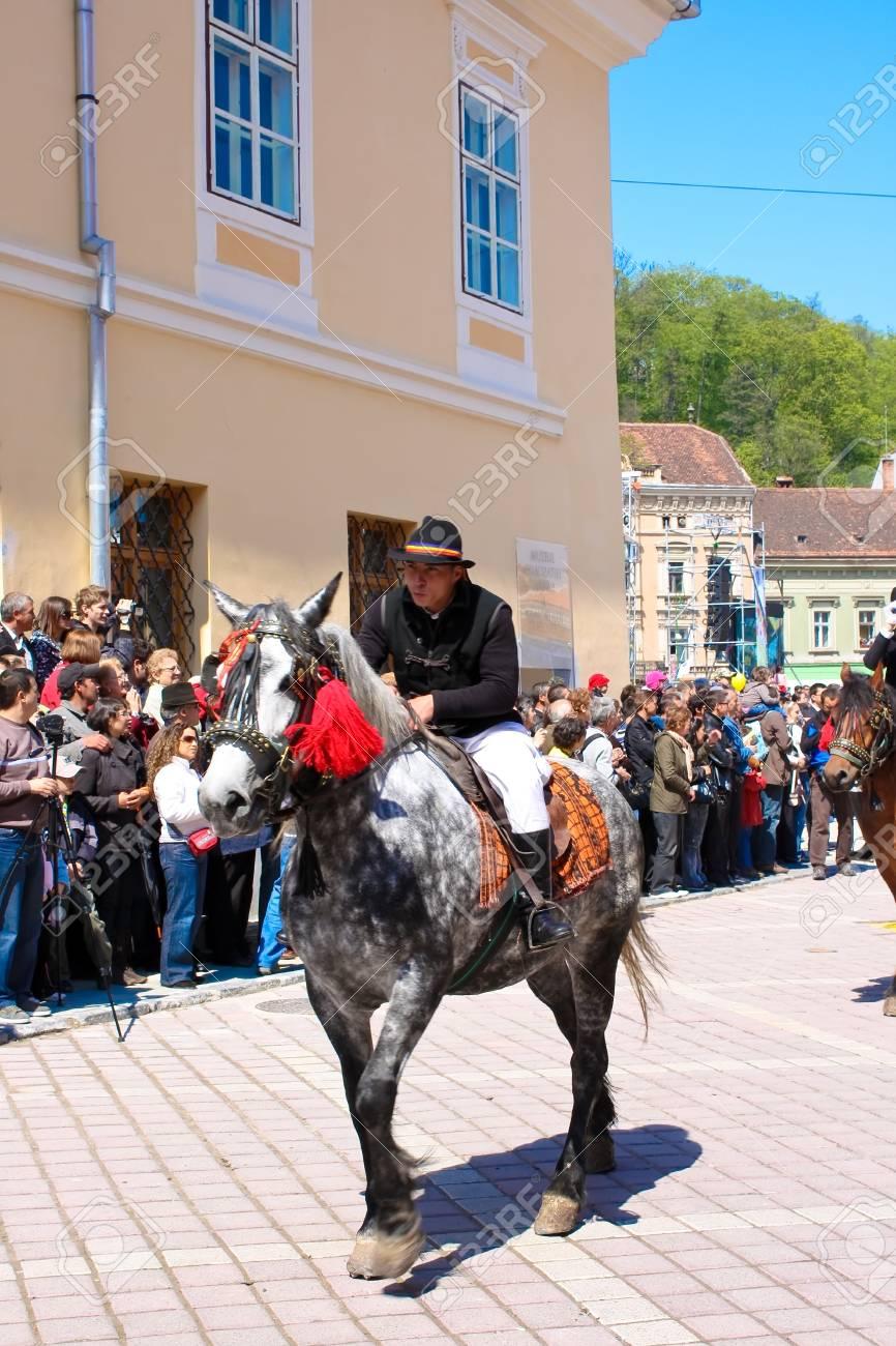 Brasov city, Romania, April 26, 2009 - The Brasov days, Juni parade Stock Photo - 6884653