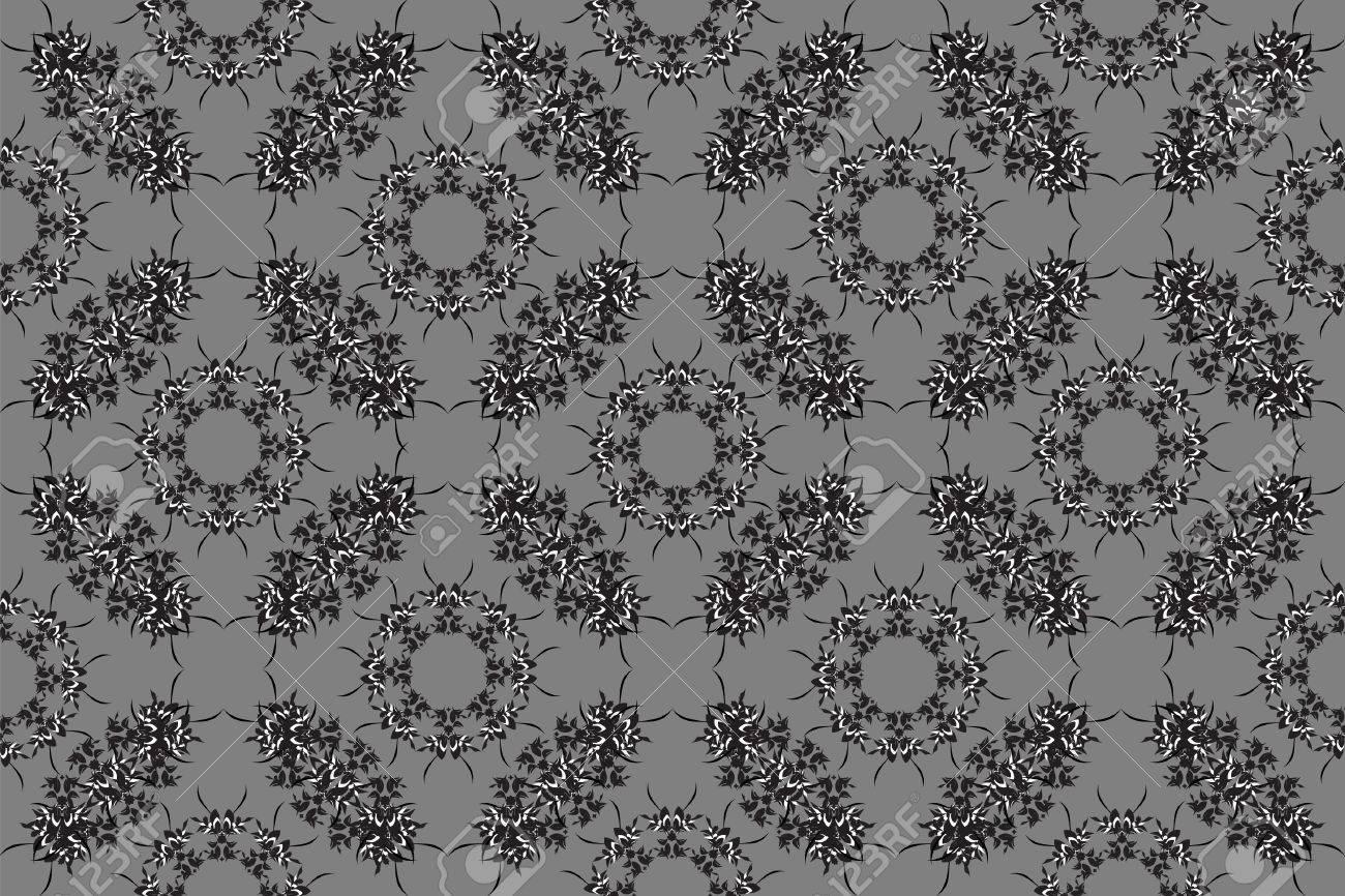 Retro wallpaper in black and white Stock Vector - 6584288