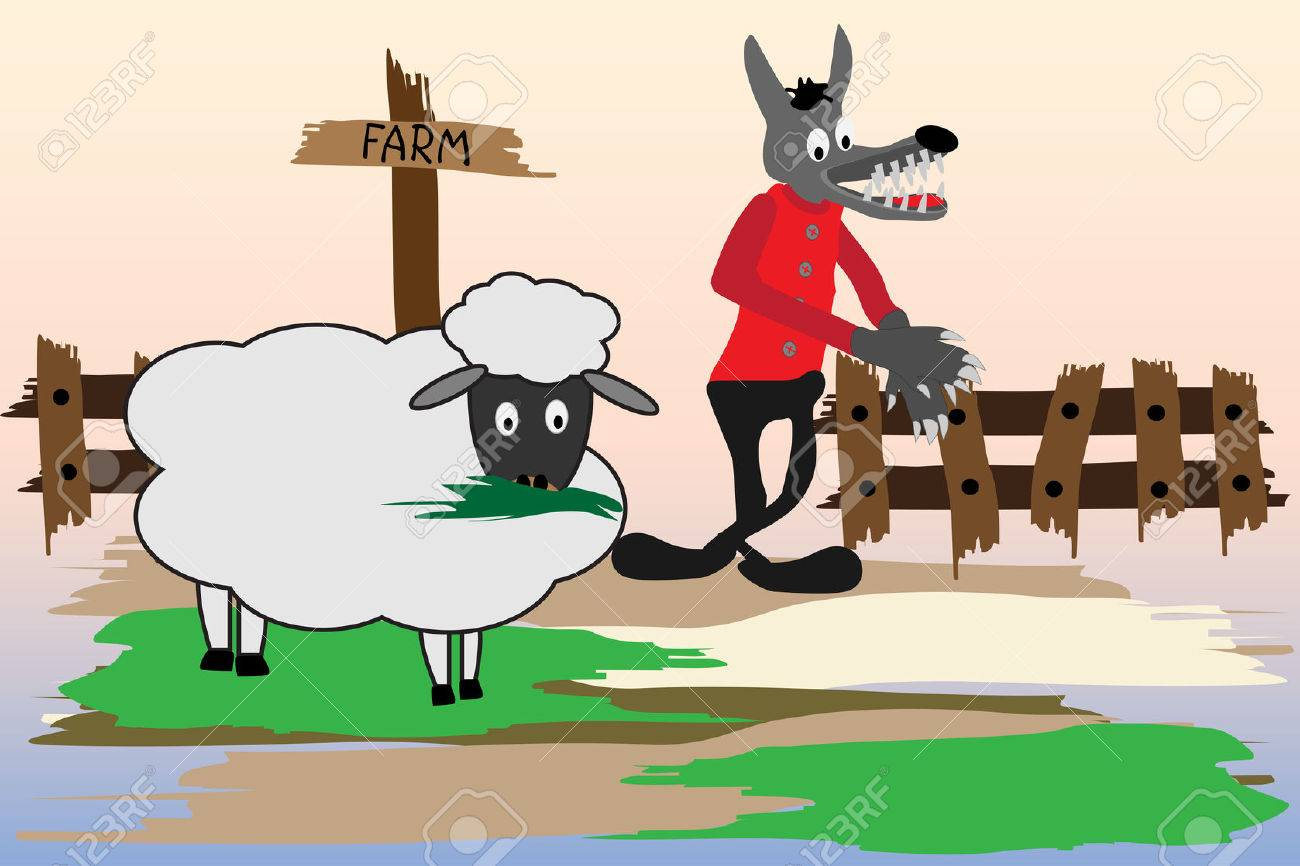 Image result for The wolves and a sheep cartoon