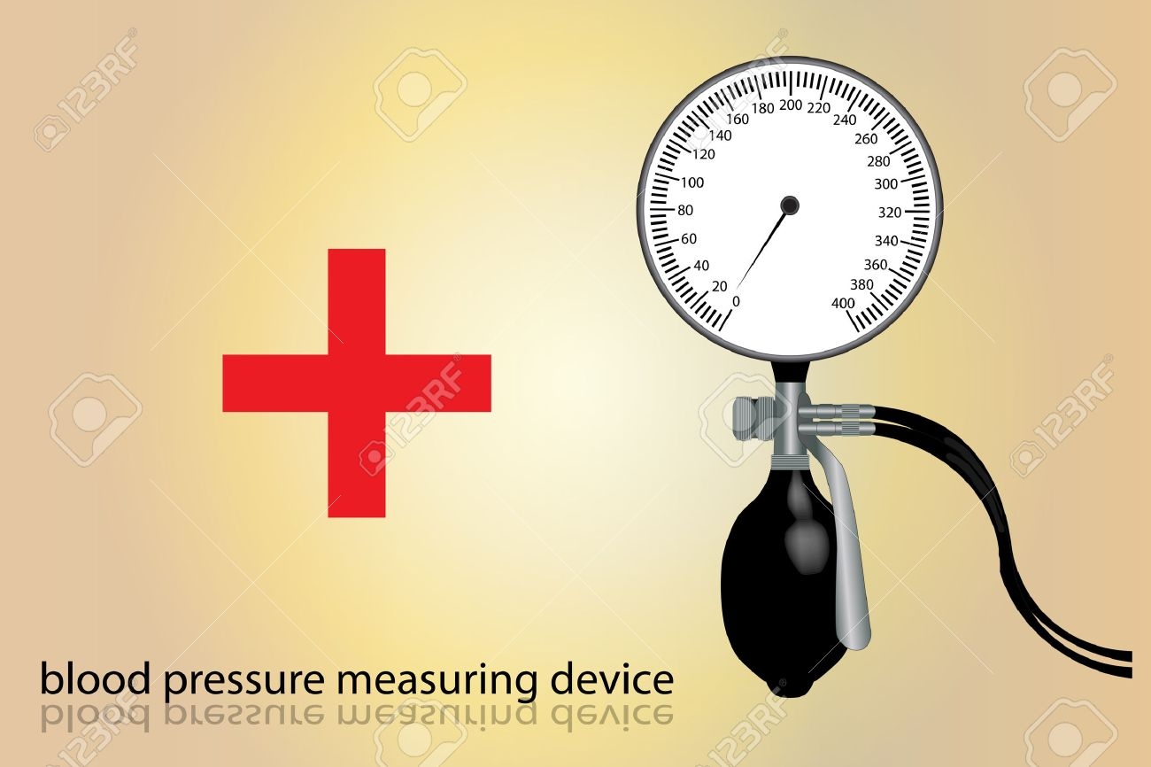 Graphic illustration of blood pressure tool measurement Stock Vector - 8272952
