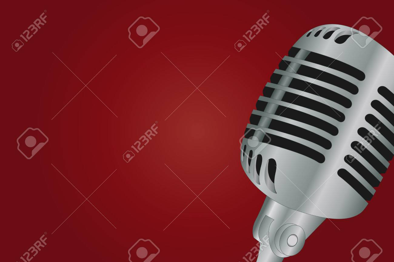 Graphic illustration of microphone over gradient background Stock Vector - 8527824