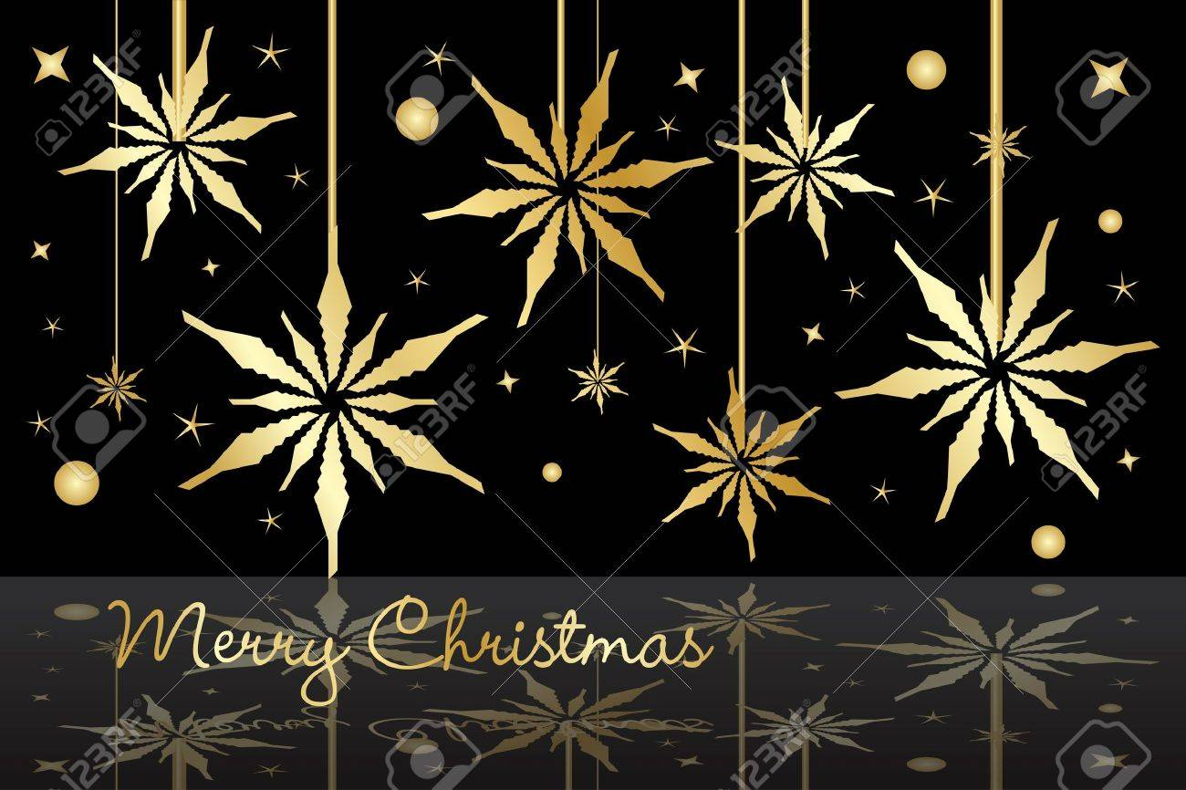 Graphic illustration of golden Christmas stars Stock Vector - 10971820