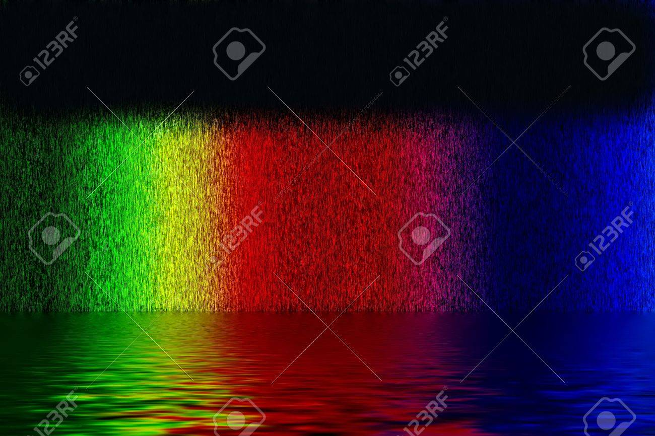 Abstract background from spectrum lines with water over black background Stock Photo - 11931793