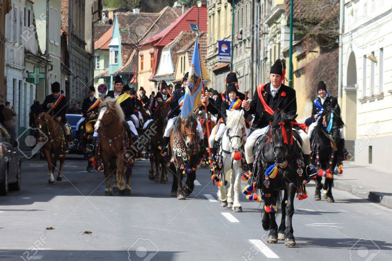 Brasov, Romania - 22.04.2012 - First Sunday after Easter at Junes Parade Stock Photo - 13266569