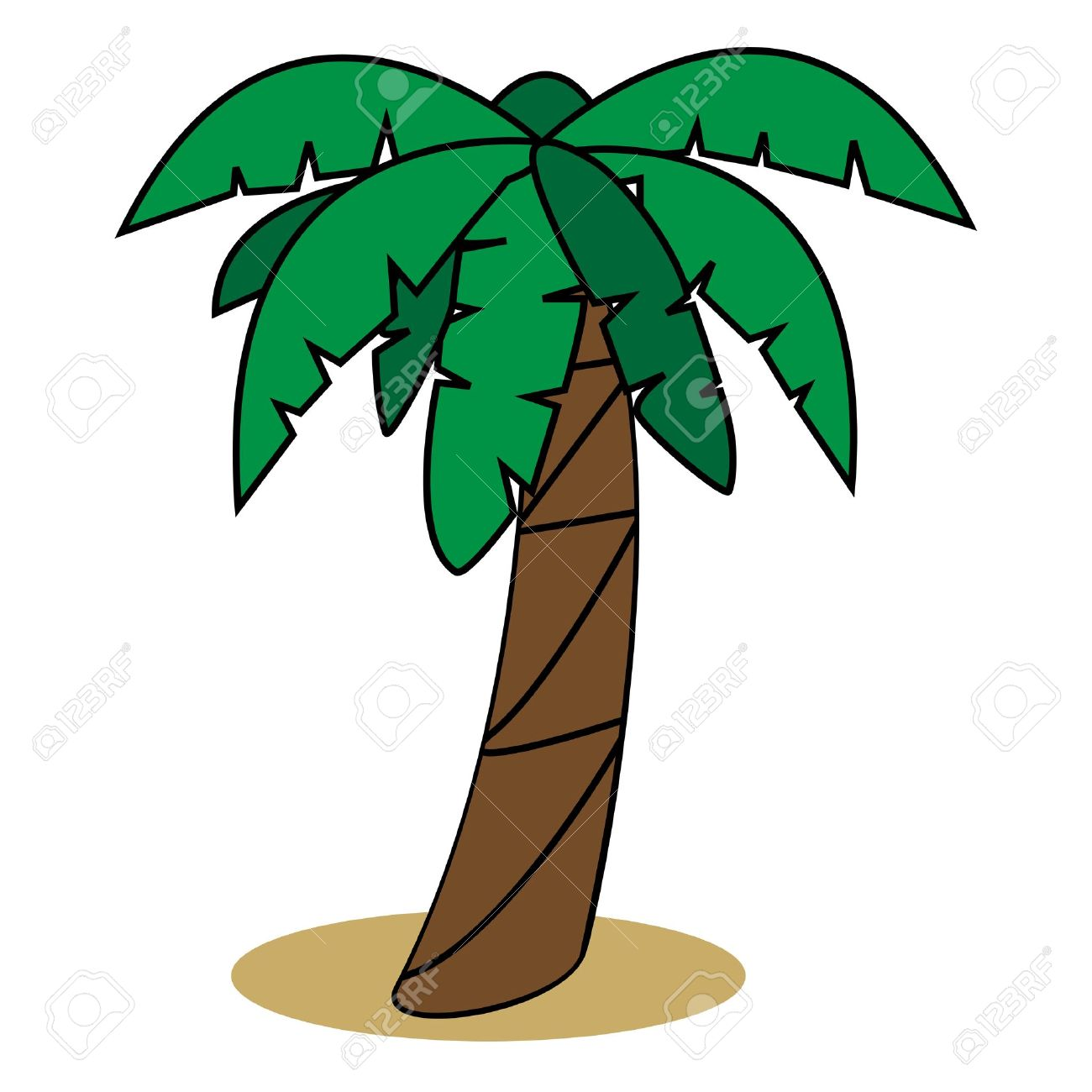 Graphic illustration of palm tree Stock Vector - 13653637