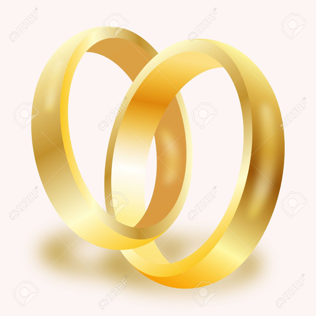 Graphic illustration of a pair of gold wedding rings Stock Vector - 14225225