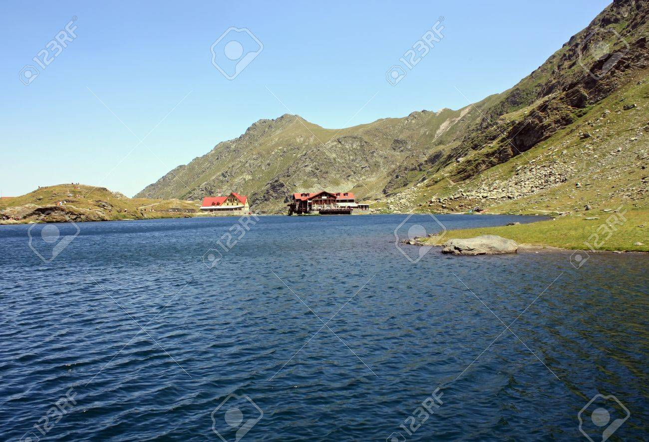 Beautiful view of Balea Lake in Fagaras mountains Stock Photo - 14540835