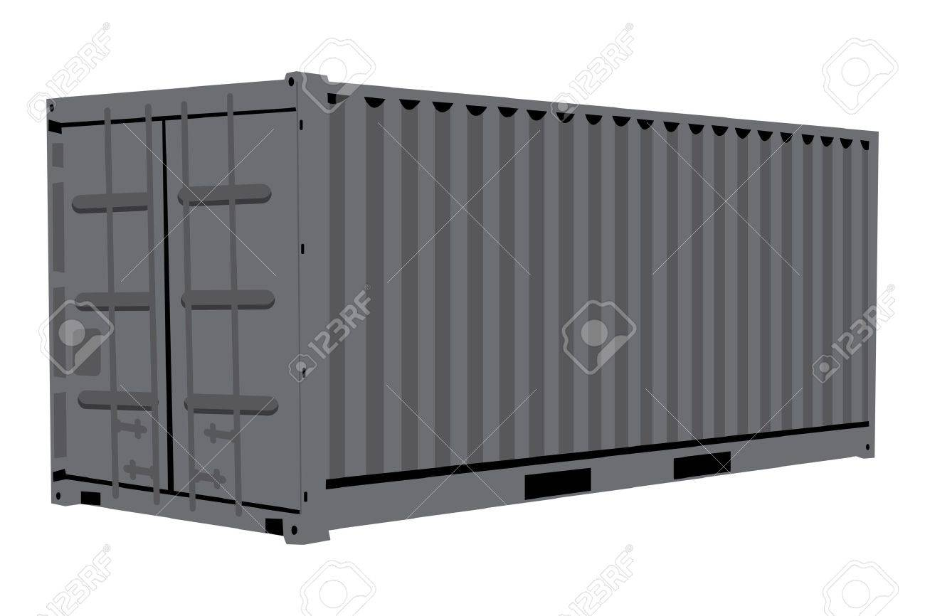 Graphic illustration of metallic container isolated over white background Stock Vector - 14738407