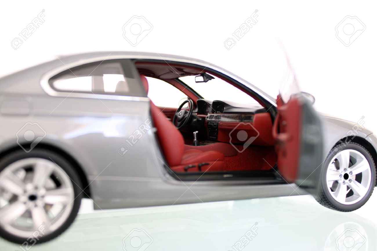 Miniature Model Of A Car With Right Door Open Stock Photo Picture