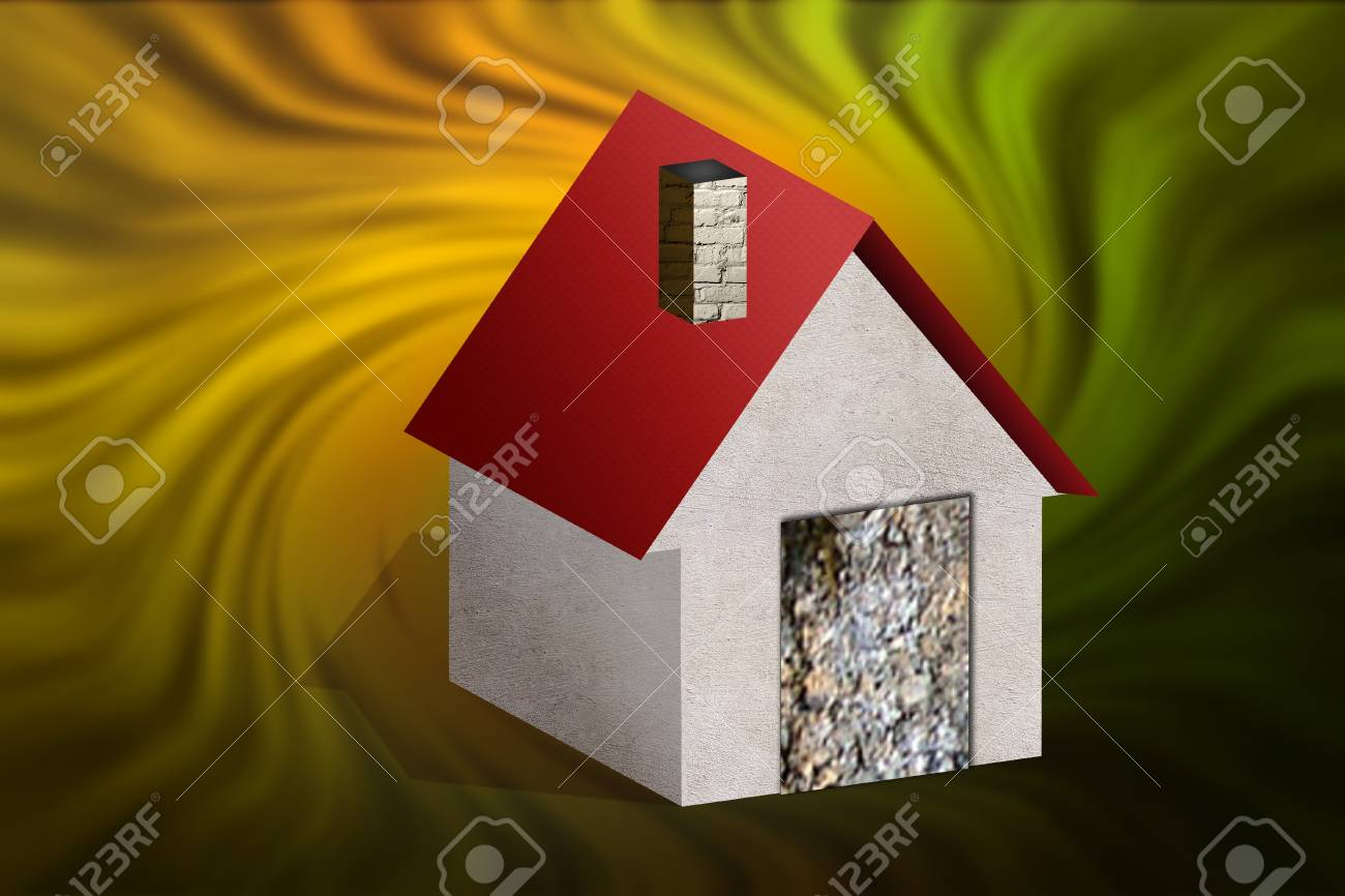 Model house over abstract background Stock Photo - 16849661