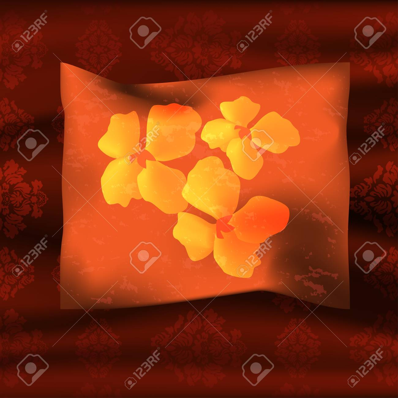 Graphic illustration of a pillow over coverlet Stock Vector - 18592828