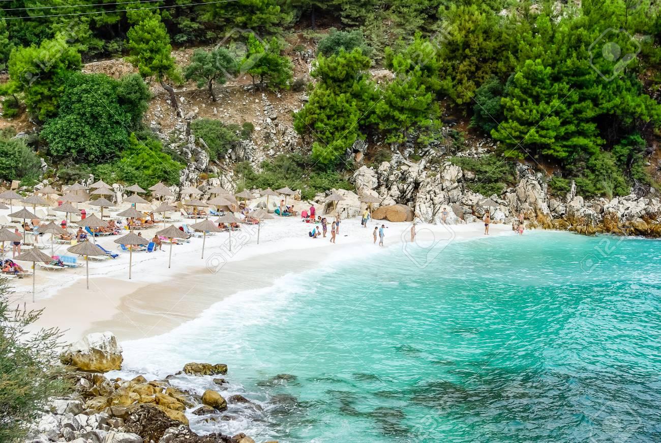 Marble Beach Saliara Beach Thassos Islands Greece The Most