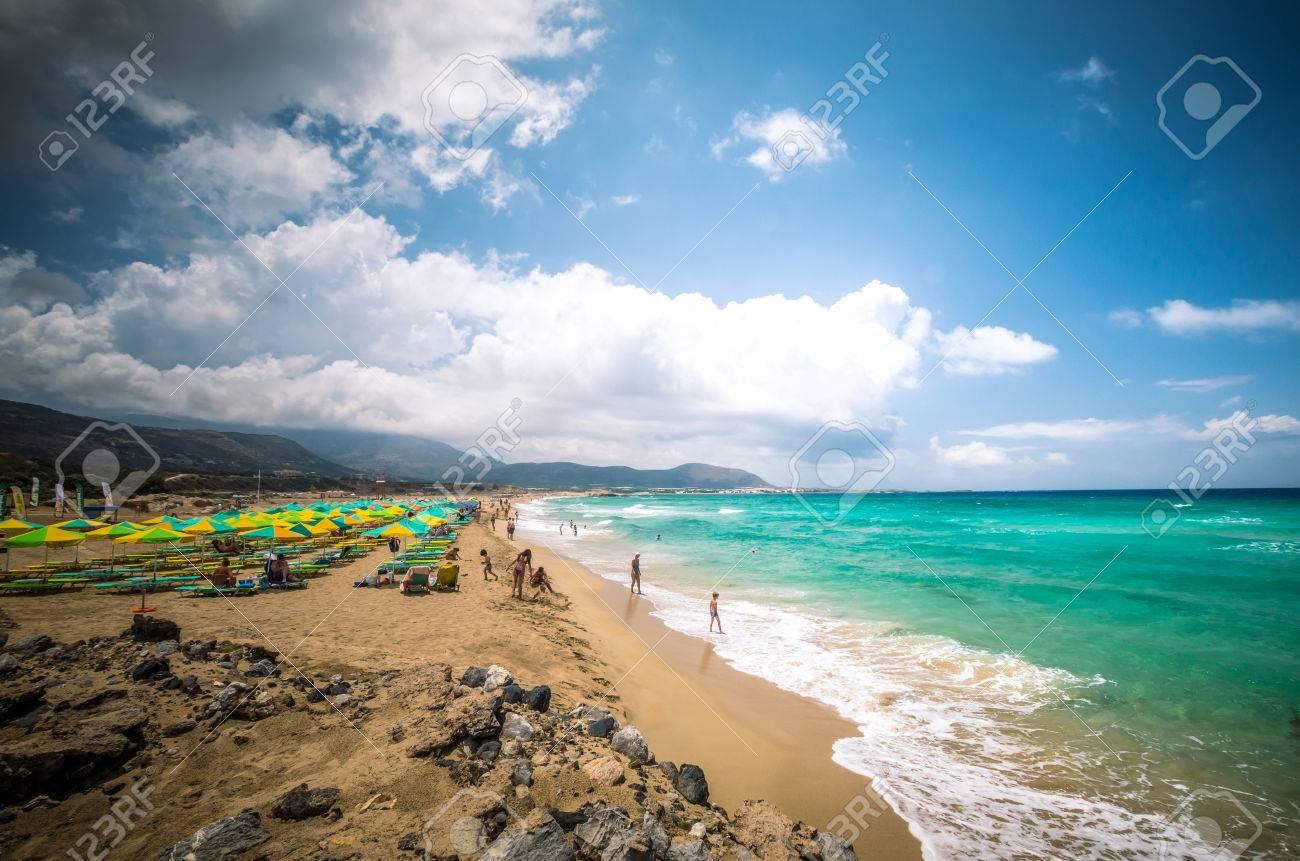 Falasarna Beach Crete Island Greece Falassarna Is One Of The