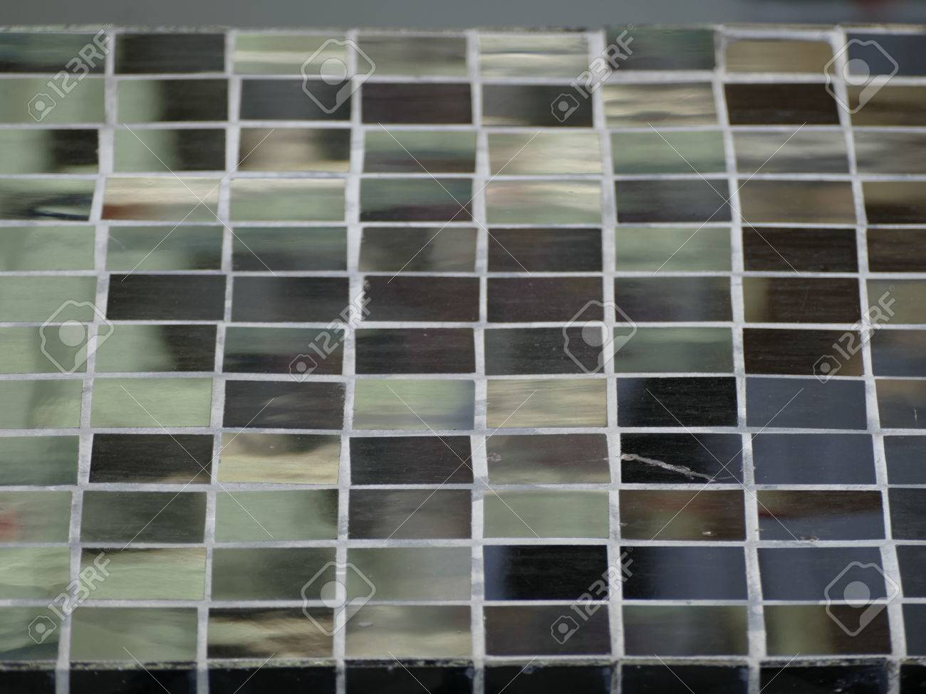 A Black Glossy Mosaic Tiles Pattern Texture Stock Photo Picture And