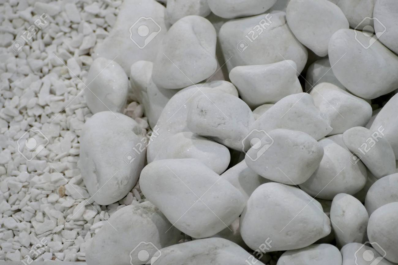 A Texture Of A Decorative Stones For Garden Stock Photo Picture And