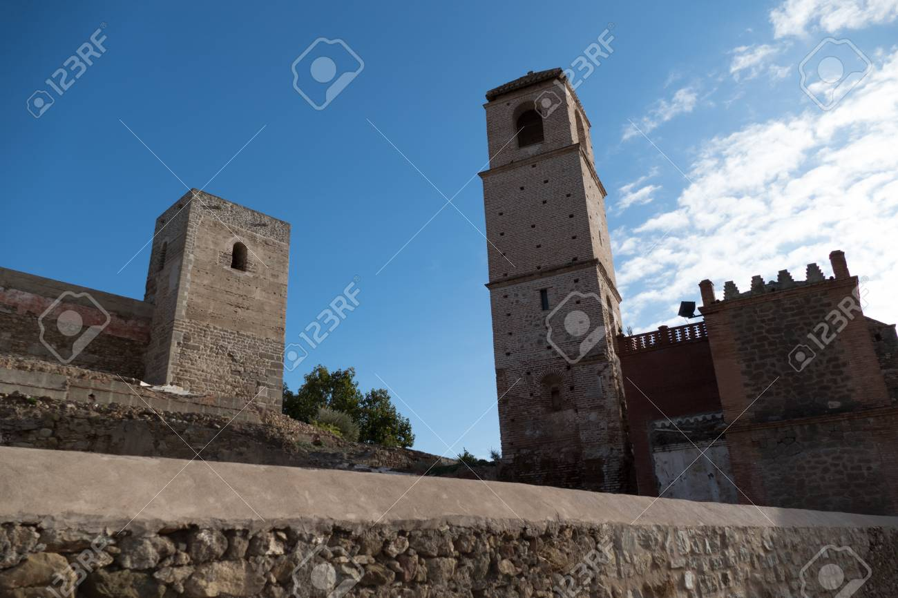 Beautiful Traditional Spanish Architecture In Alora Village Stock Photo