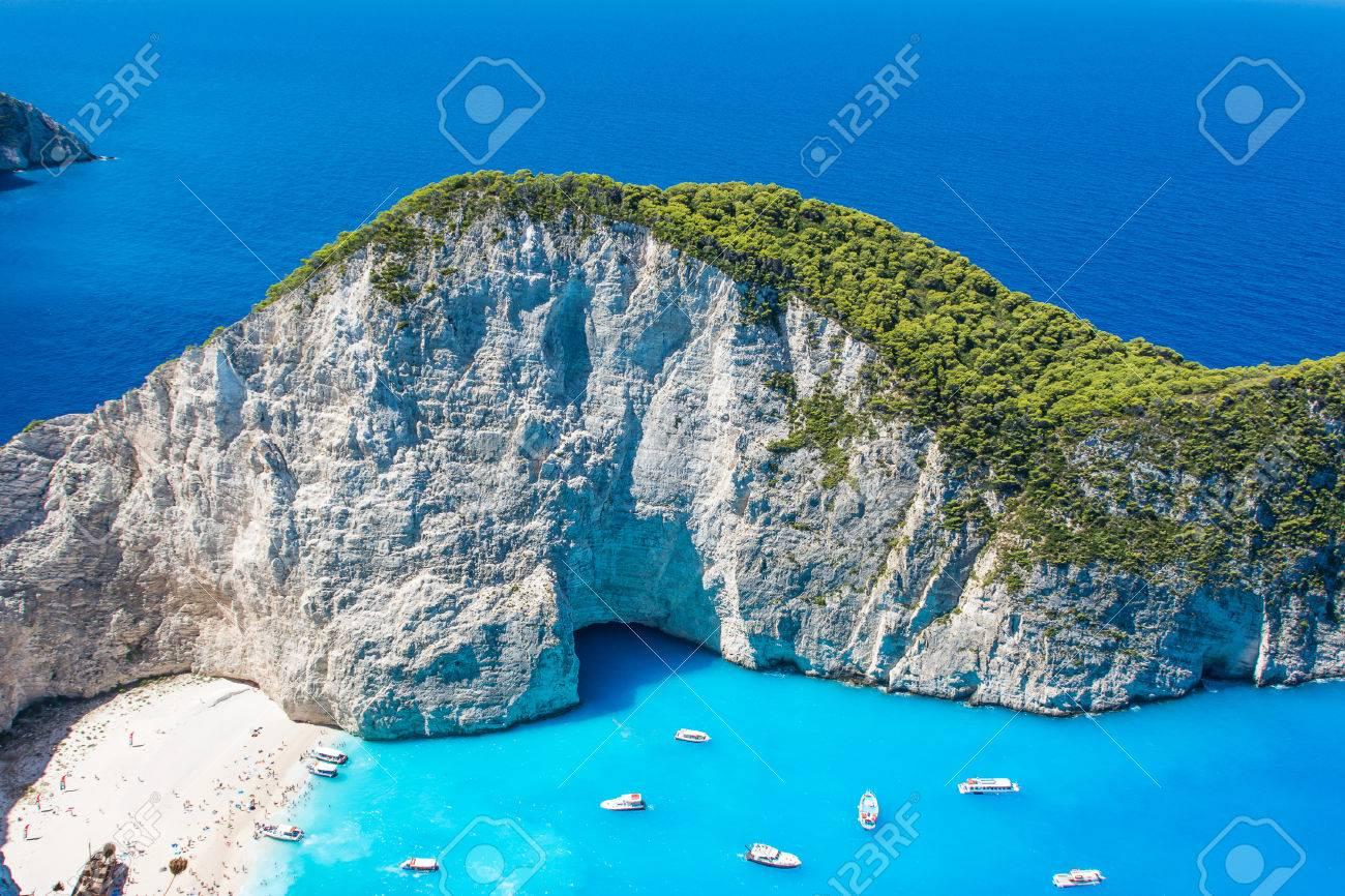Beautiful view of Navagio Beach in Zakynthos, Greece - 45238166