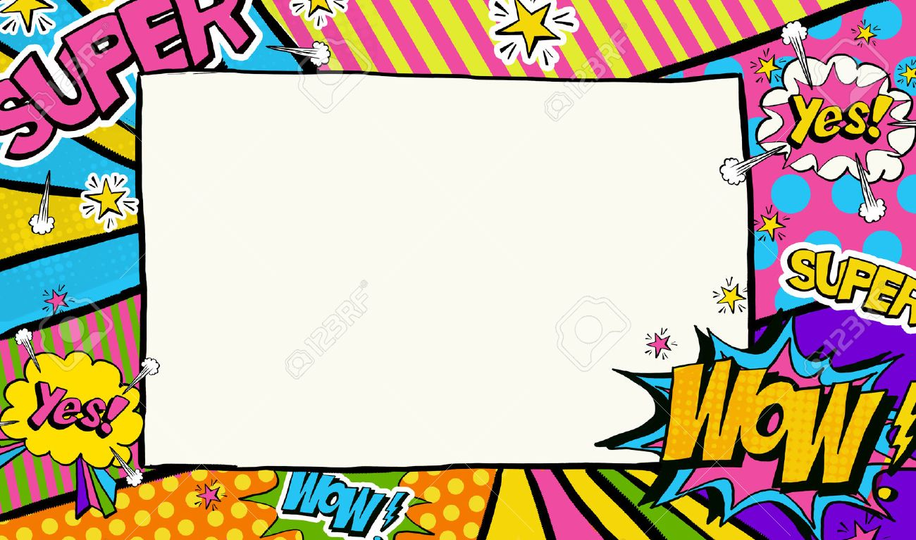 pop art background advertising poster pop art frame for place