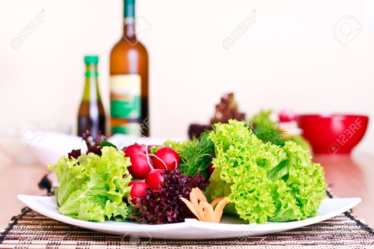 nicely prepared vegeterian food on the table Stock Photo - 7142746