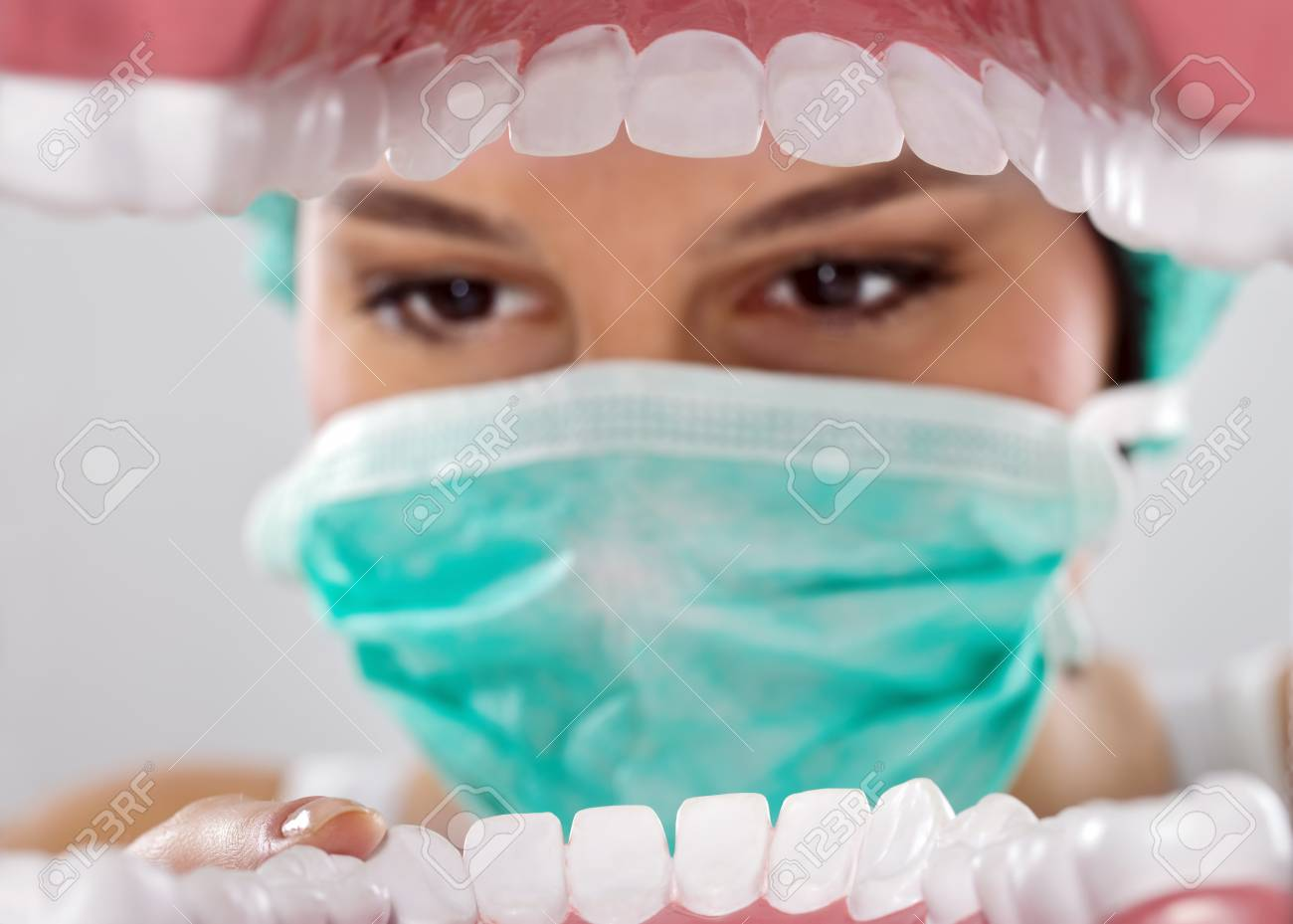 Patient's mouth being inspected by dentist Stock Photo - 12781204