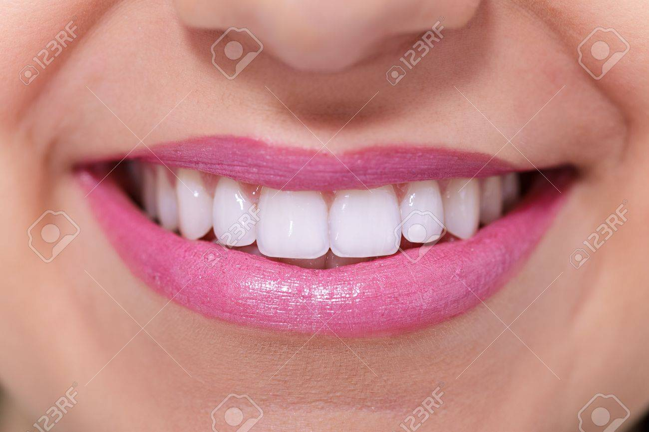 Close up of female perfectly white healthy toothy smile. Stock Photo - 12924266