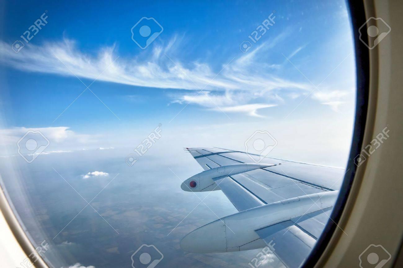 Airplane Window Wing
