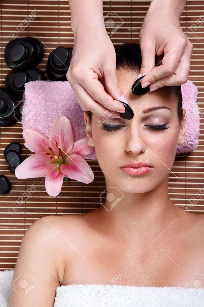 beauty woman having cosmetic massage,facial treatment, close up Stock Photo - 14734793