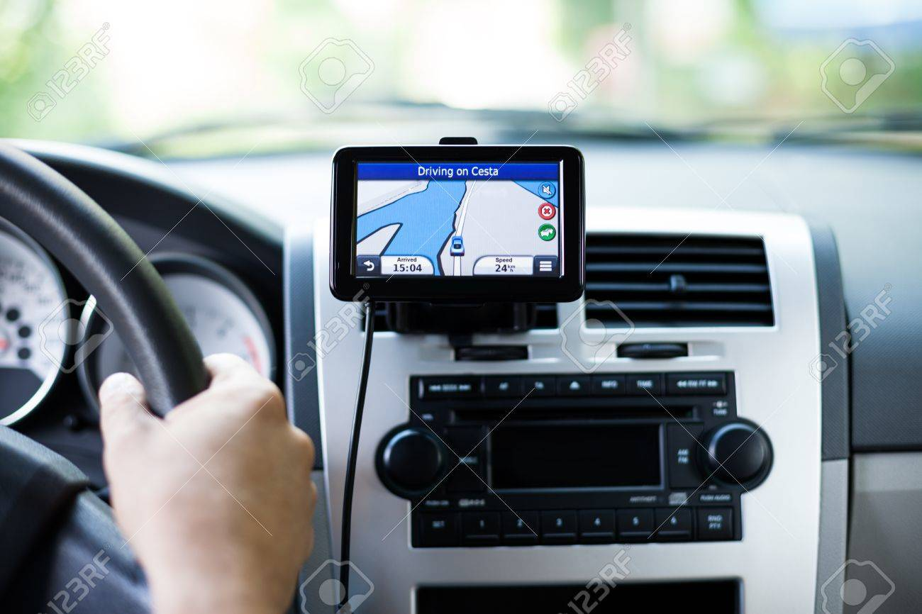 GPS navigation in interior of luxury car Stock Photo - 15671981