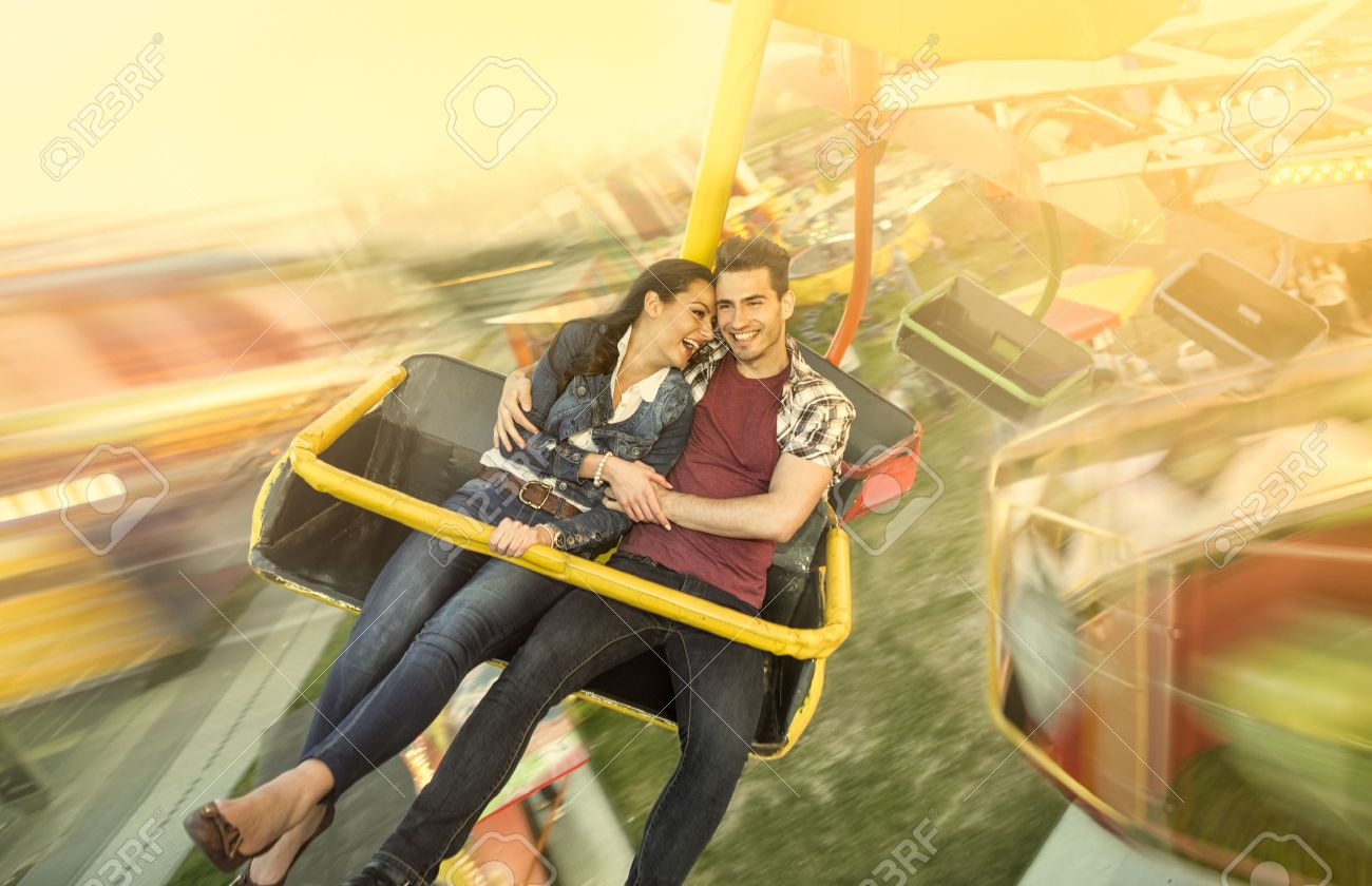 Happiness Couple Riding On Ferris Wheel At Amusement Park Stock Photo Picture And Royalty Free Image Image 29052931