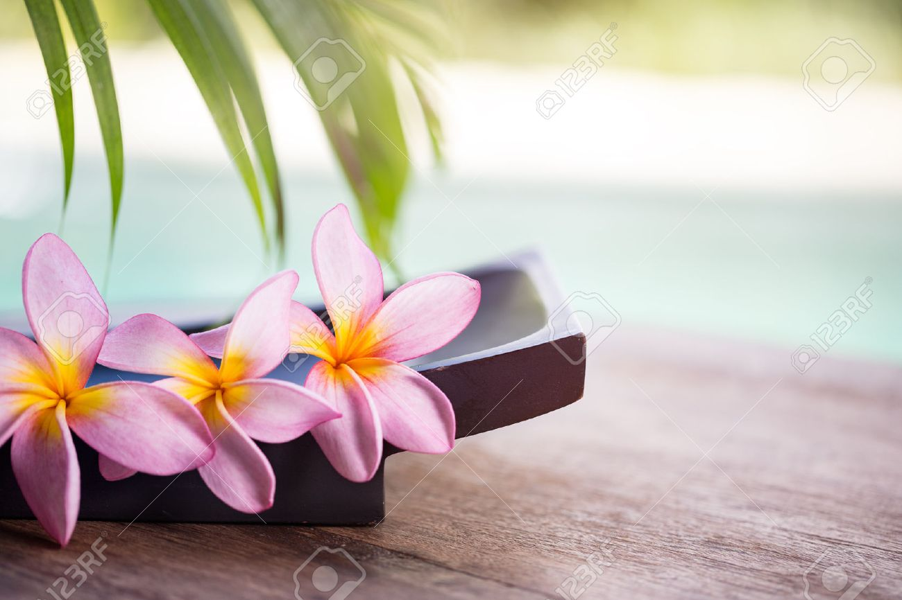 Wellness background  Spa And Wellness Background, Tropical Environment With Frangipani ...