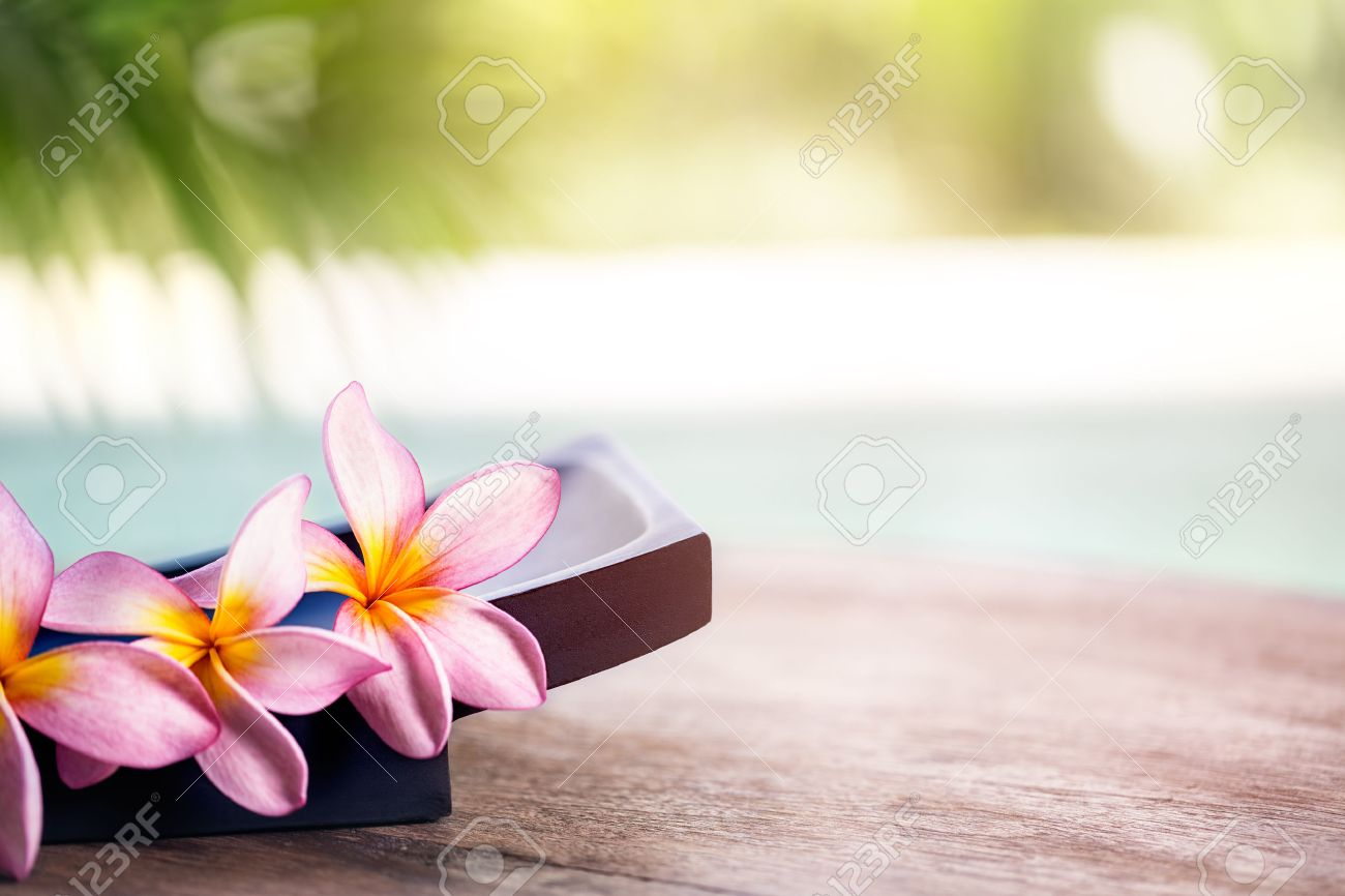 Wellness background  Frangipani Tropical Spa Flower, Spa And Wellness Background Stock ...