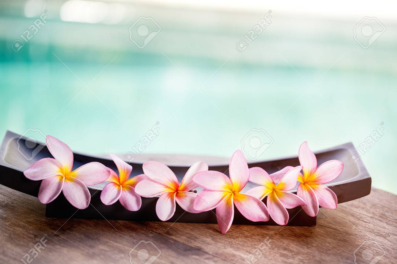 tropical flower spa background stock photo picture and royalty