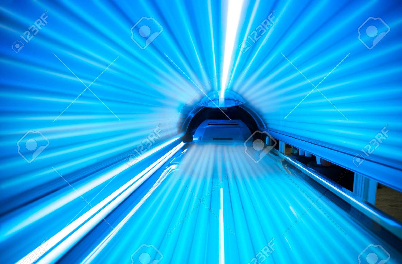 Empty Tanning Bed Solarium Stock Photo Picture And Royalty Free
