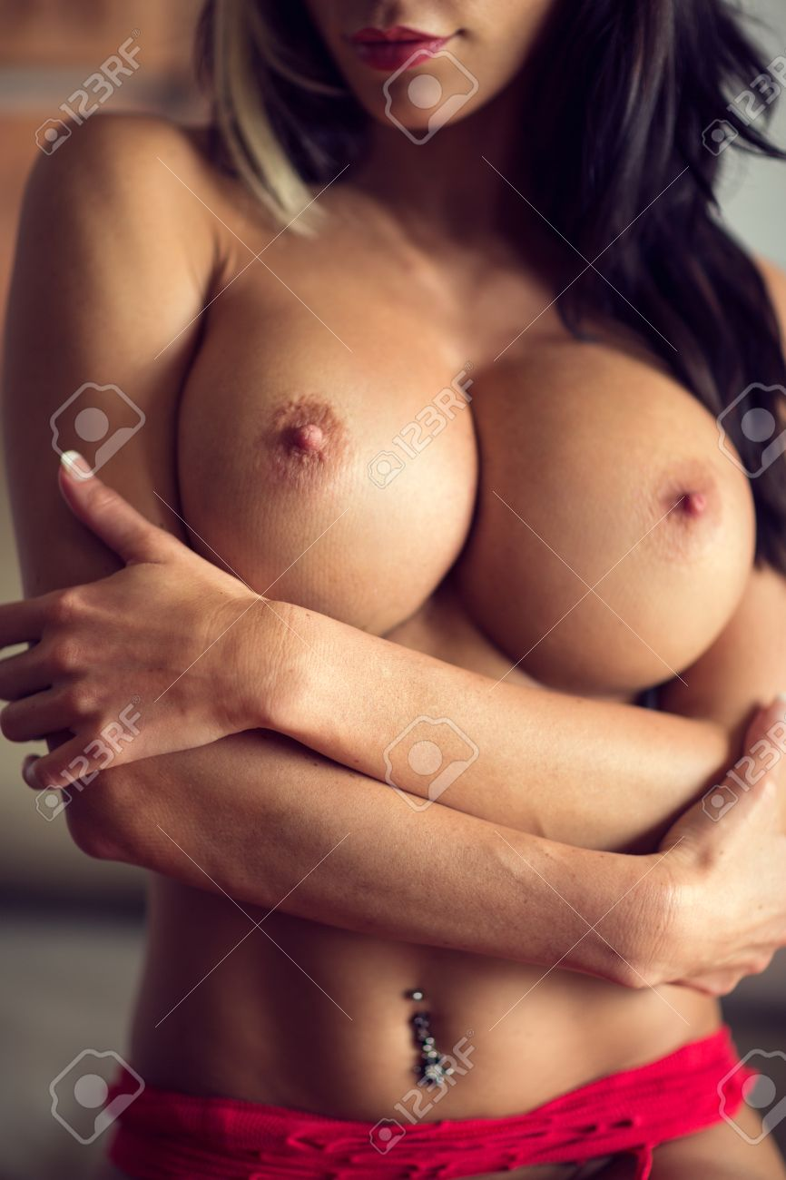 naked female breasts with perfect nipples Stock Photo - 53931289