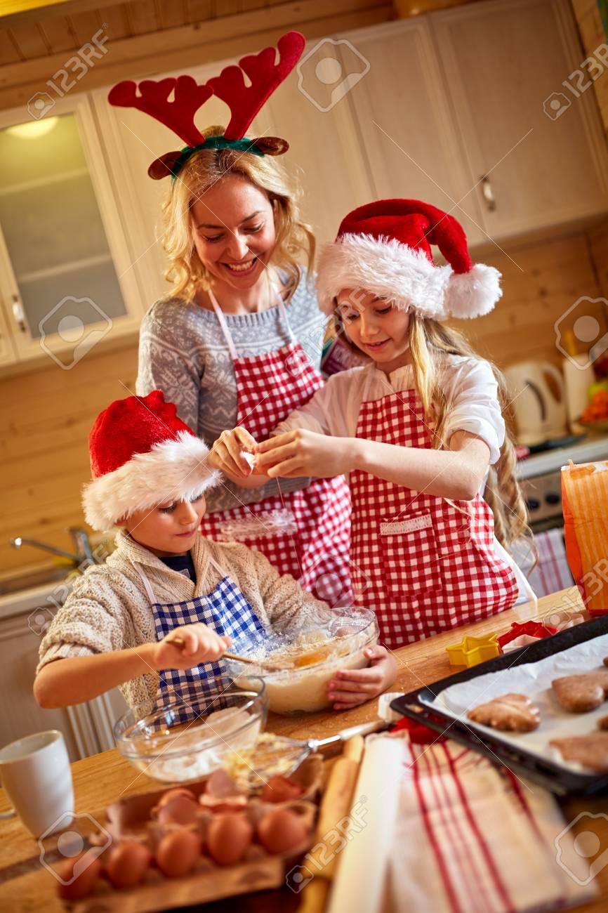 Kinder Weihnachtskekse.Stock Photo