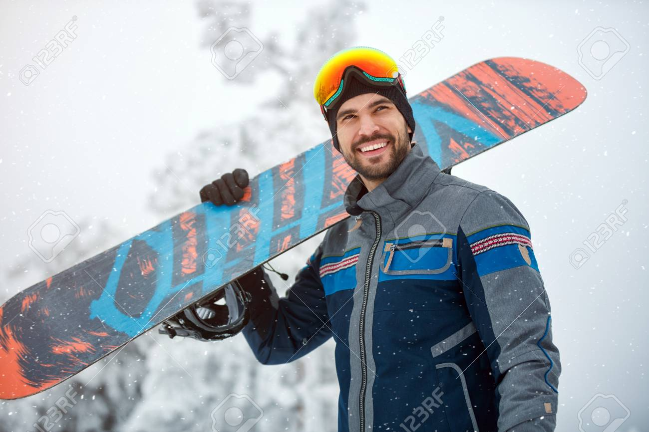Portrait Of Cool Young Snowboarder Stock Photo Picture And Royalty Free Image Image 89018045